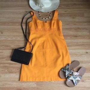 Orange Textured Trina Turk Dress Size 8